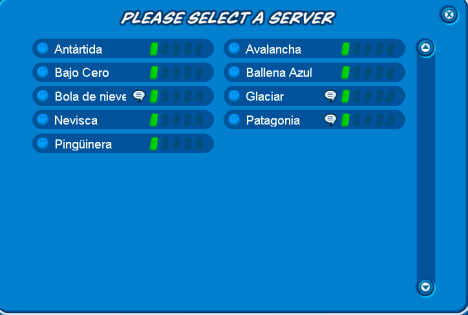 new spanish server list
